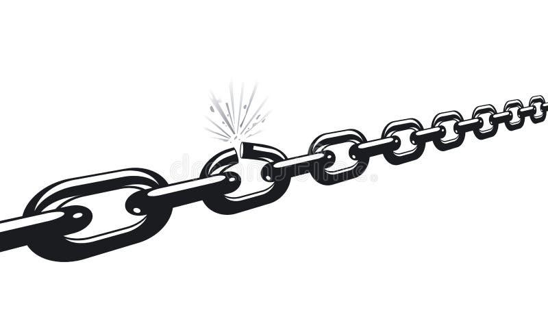 Criqué à chaînes illustration libre de droits