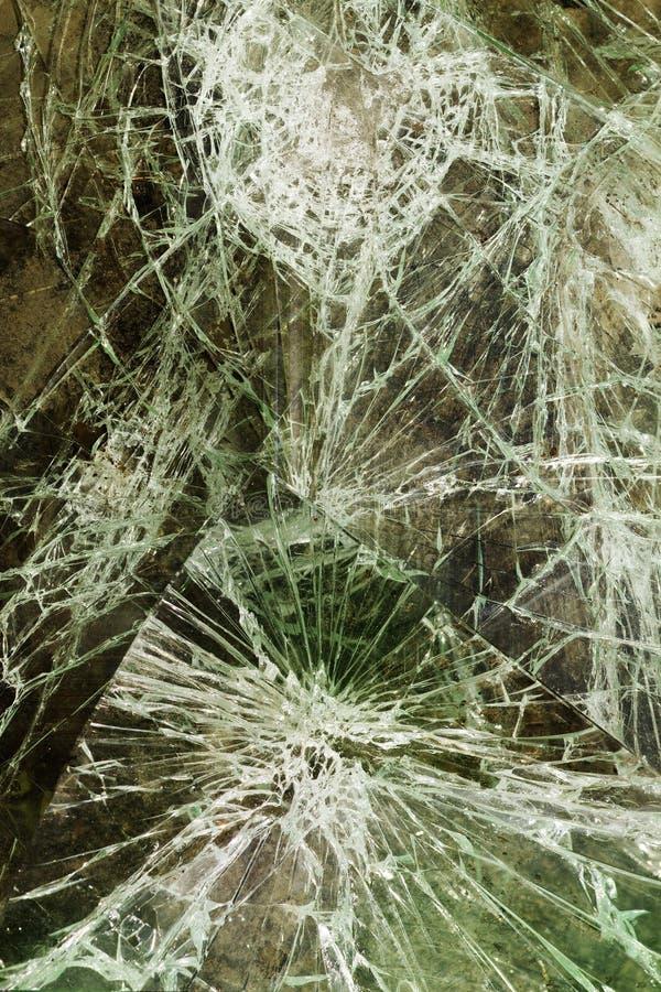 Criqué en verre cassé photos stock