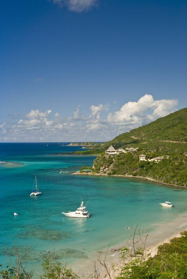 Crique d'île de Gorda de Vierge photos stock