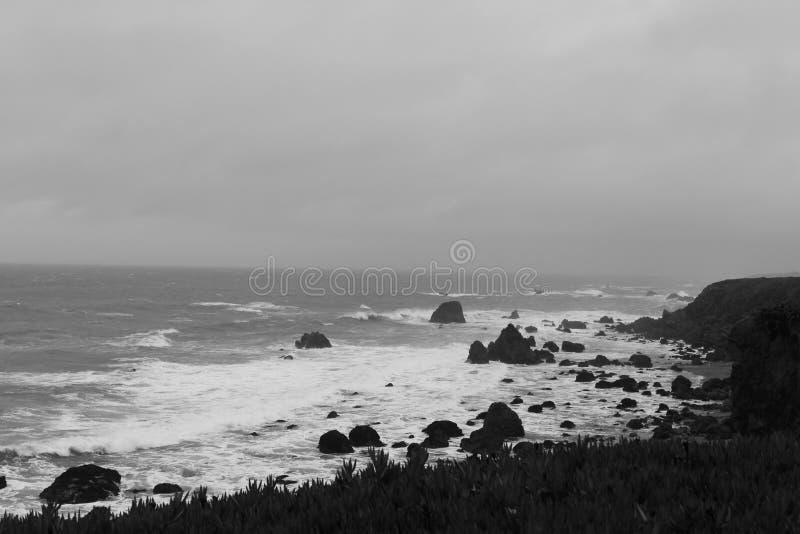 Crique d'abri, la Californie Temps orageux photographie stock