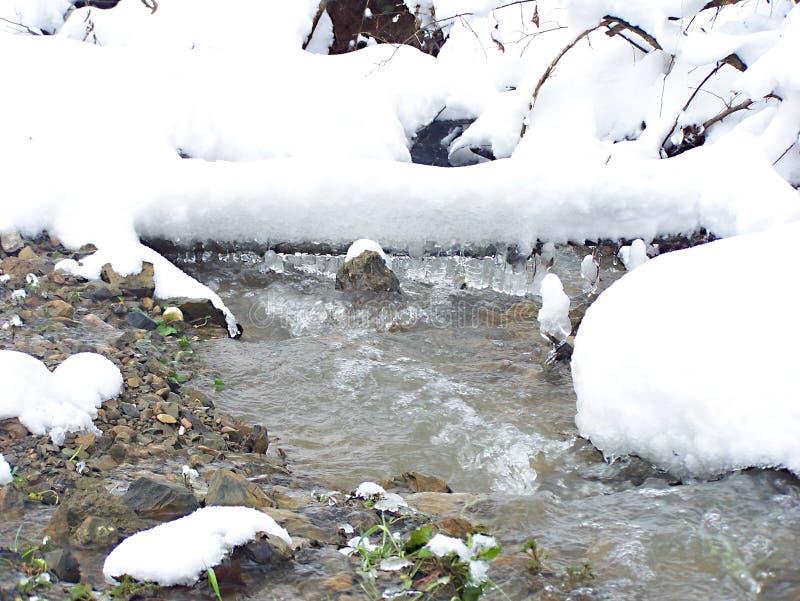 Crique d'hiver images libres de droits