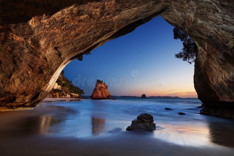 Crique de cathédrale, Nouvelle Zélande image libre de droits