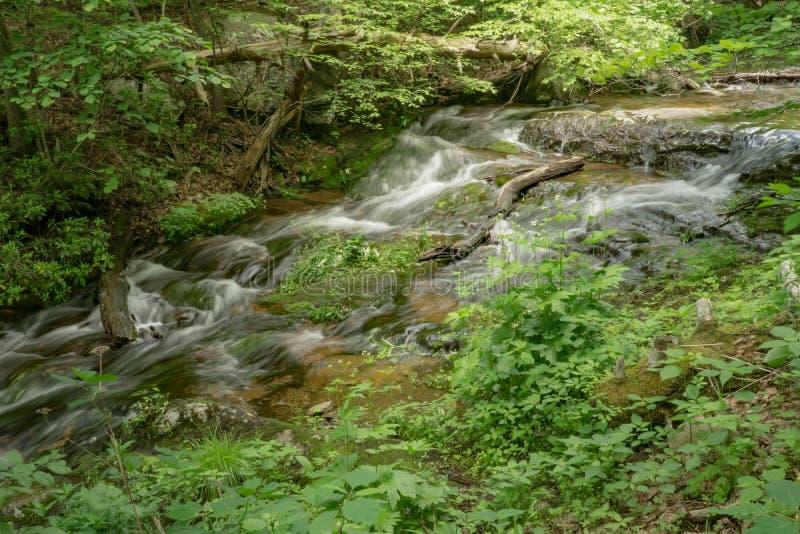 Crique de Fallingwater située sur Ridge Parkway bleu photographie stock libre de droits