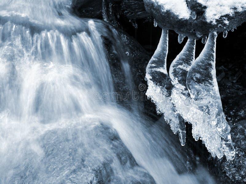 Crique de l'hiver photographie stock