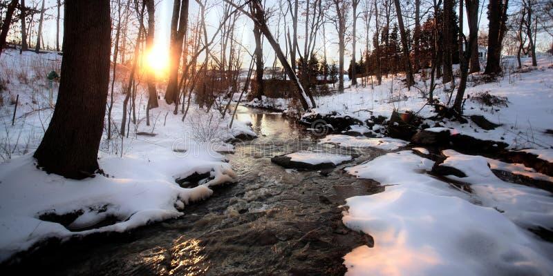 Crique de l'hiver photos stock