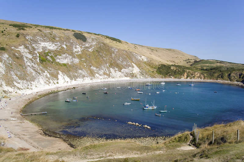 Crique de Lulworth photos stock
