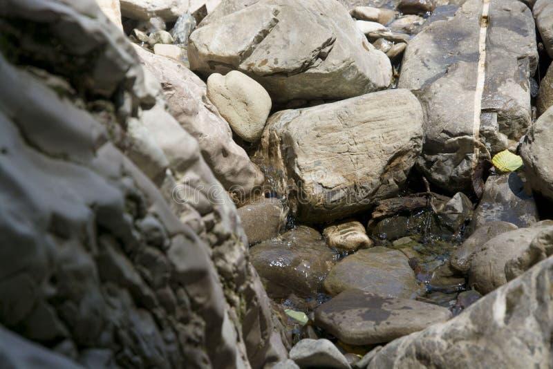 Crique de montagne Pierres grandes et petites Beau jour ensoleill? Automne heat photos libres de droits