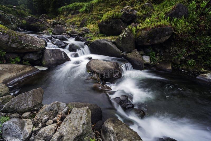 Crique de Terra de Faial DA, São Miguel, Açores photographie stock