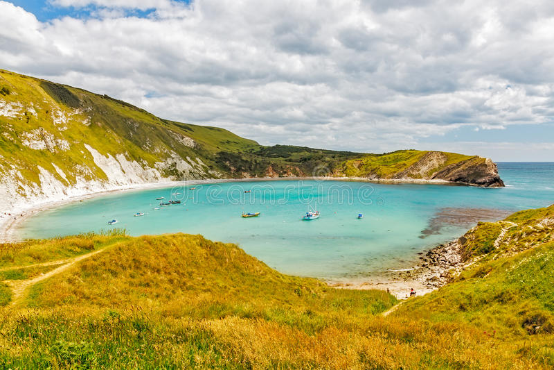 Crique Dorset de Lulworth photographie stock libre de droits