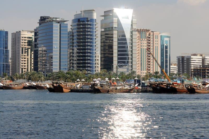 crique Dubaï de constructions image libre de droits