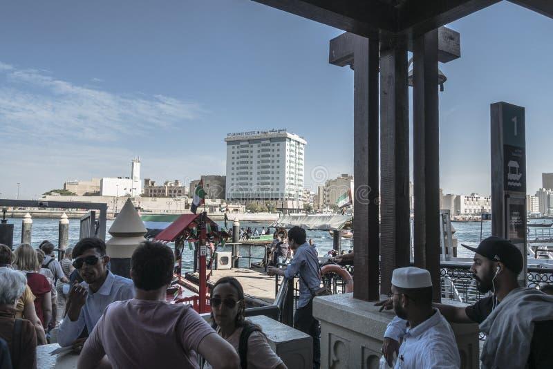 crique Dubaï de constructions moderne photographie stock libre de droits