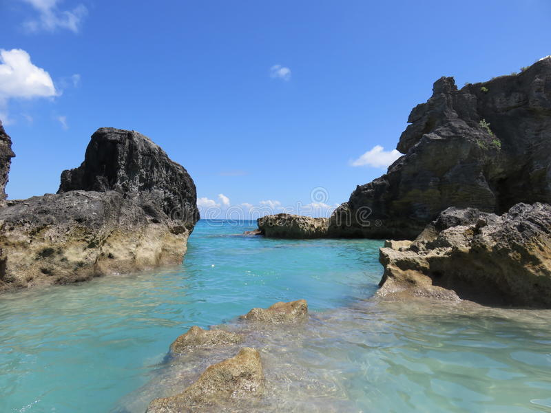 Crique en Bermudes image stock