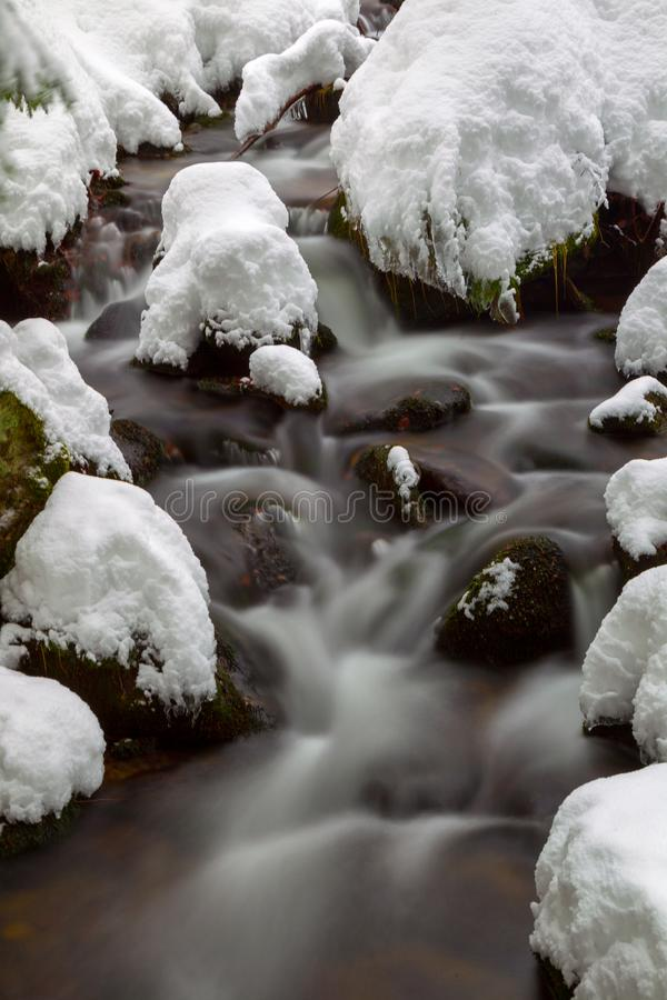 Crique en hiver image stock