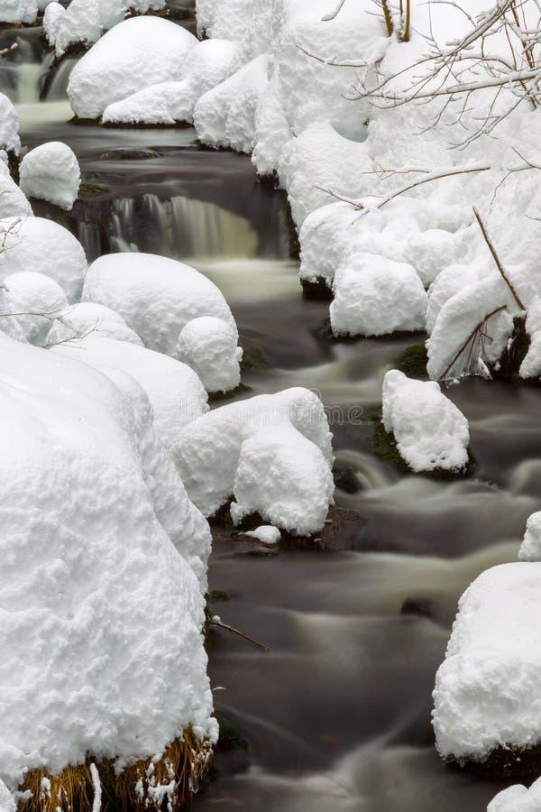 Crique en hiver photos stock