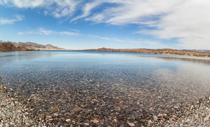 Crique Mohave d'Arizona, lac de téléphone images stock