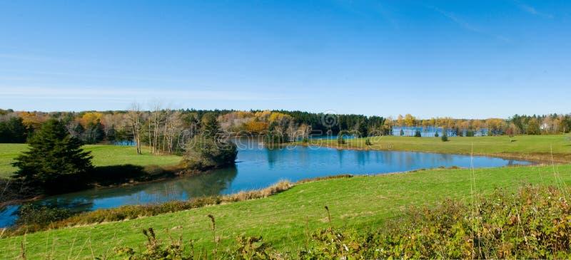 Crique paisible, côte du Maine image libre de droits