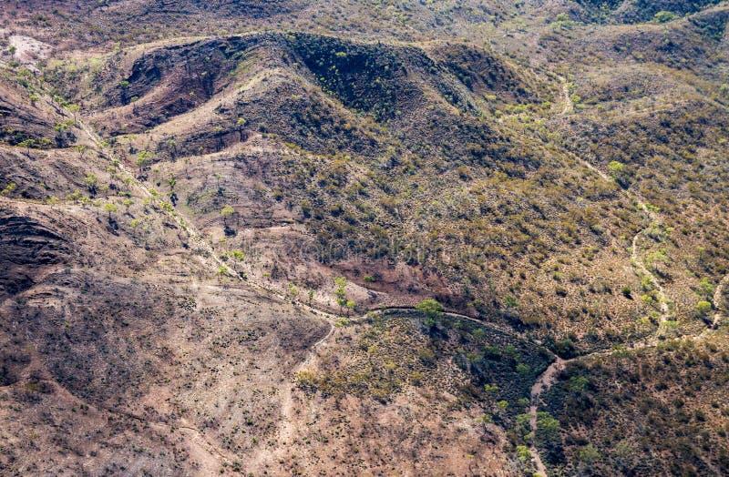 Criques sèches dans le MacDonnells occidental photographie stock libre de droits