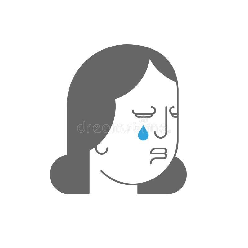 Cris de martyre Barbelé sur la tête Douleur et souffrance Larmes pour illustration de vecteur