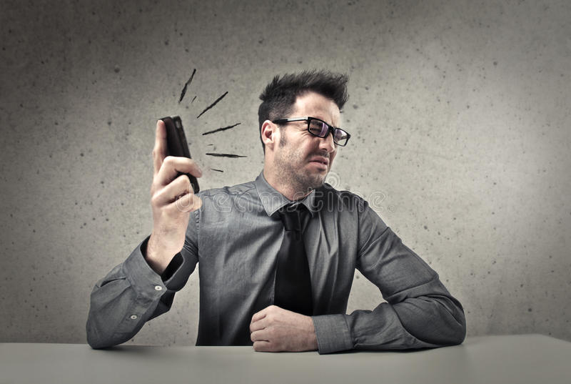 Cris de téléphone images stock