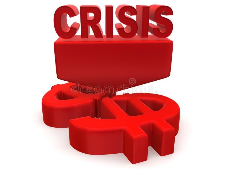 Crise illustration de vecteur