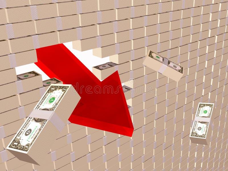 Download Crise ilustração stock. Ilustração de banco, crise, downward - 16852349
