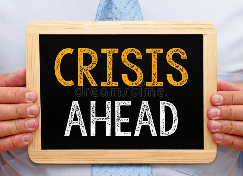 Crise adiante foto de stock royalty free