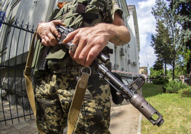 Crise armée en Ukraine photo libre de droits