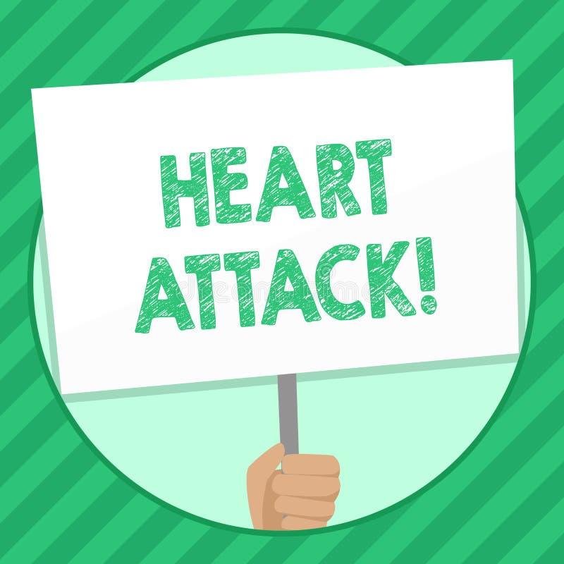 Crise cardiaque d'écriture des textes d'écriture Occurrence soudaine de signification de concept d'infarctus du myocarde ayant  illustration libre de droits