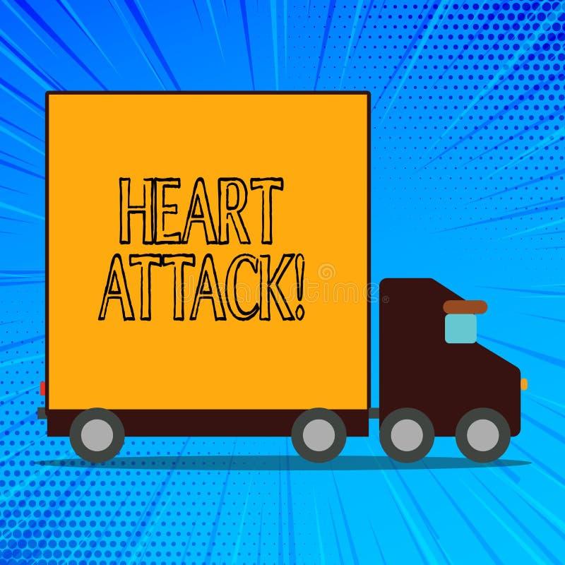 Crise cardiaque des textes d'écriture Occurrence soudaine de signification de concept d'infarctus du myocarde ayant pour résultat illustration de vecteur
