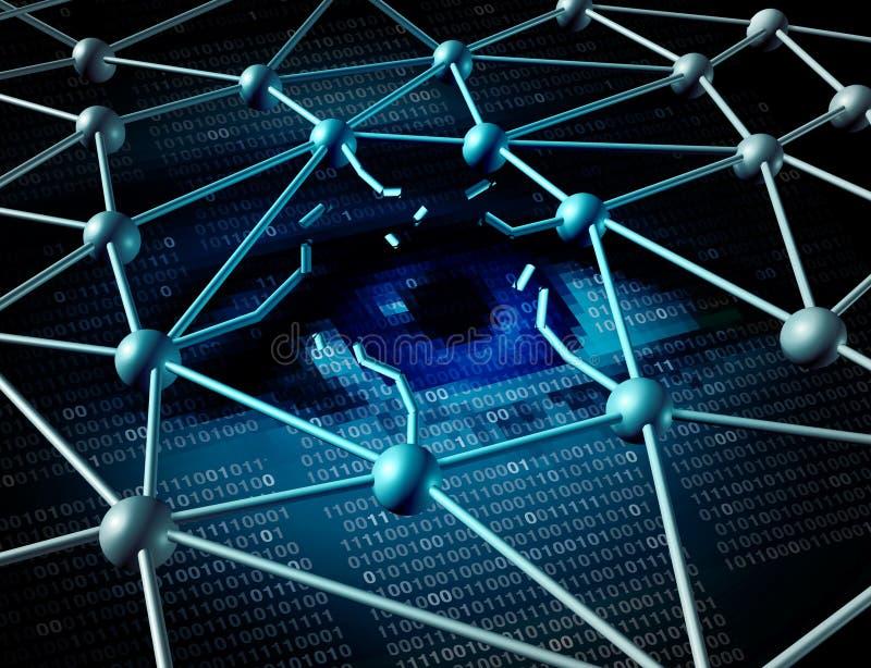 Crise d'infraction de données illustration libre de droits