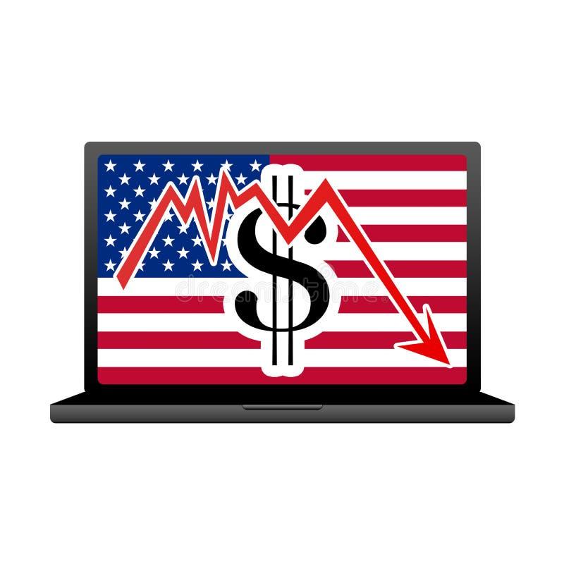 Crise da economia nos EUA foto de stock