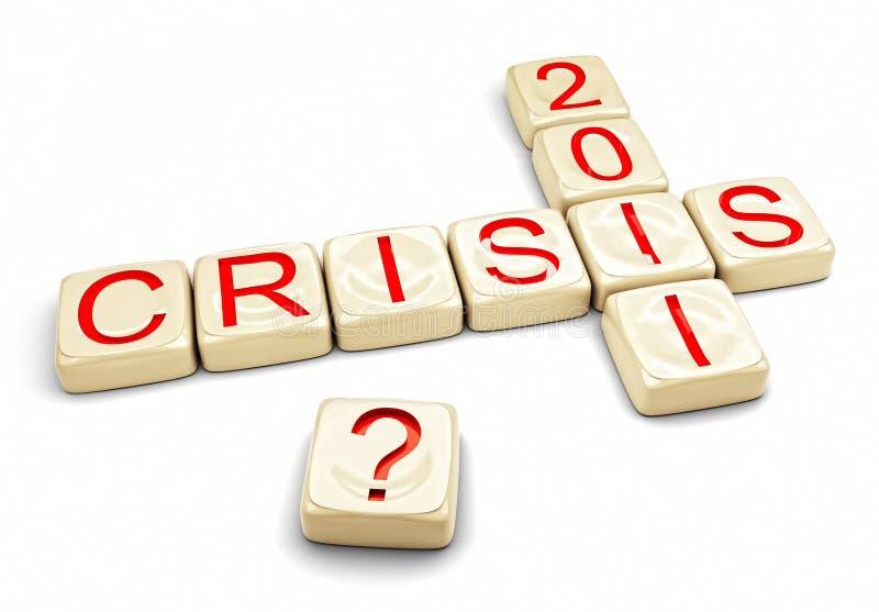 Crise de 2012 ilustração royalty free