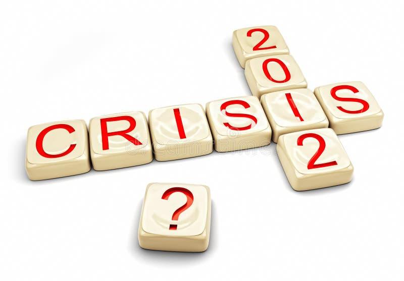 Crise de 2012 ilustração stock