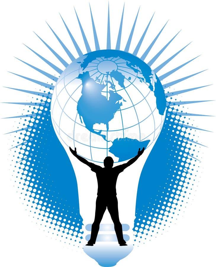 Crise de energia global ilustração stock