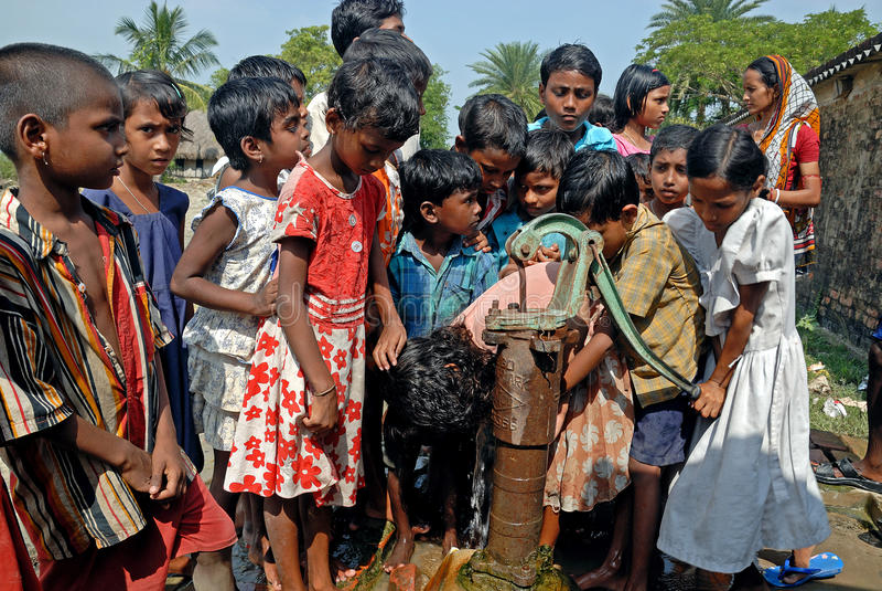 Crise de l'eau en Sundarban-Inde photos stock