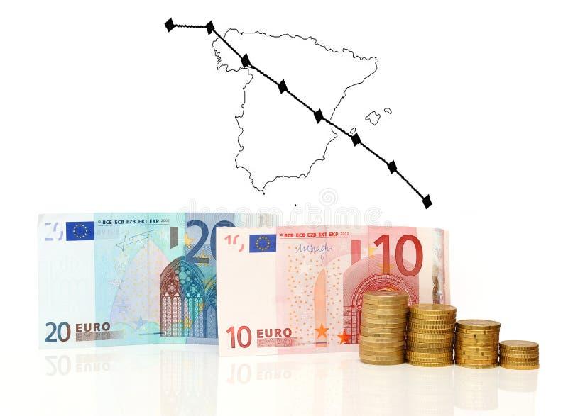 Crise de l'Espagne images stock