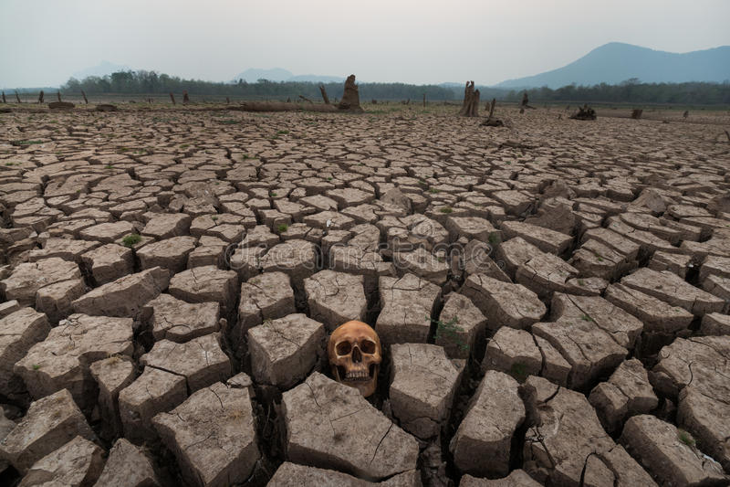 Crise de mundo da terra da seca fotografia de stock royalty free