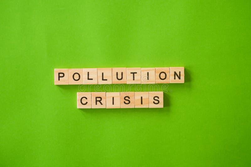 CRISE de POLLUTION sur le fond d'isolement images libres de droits