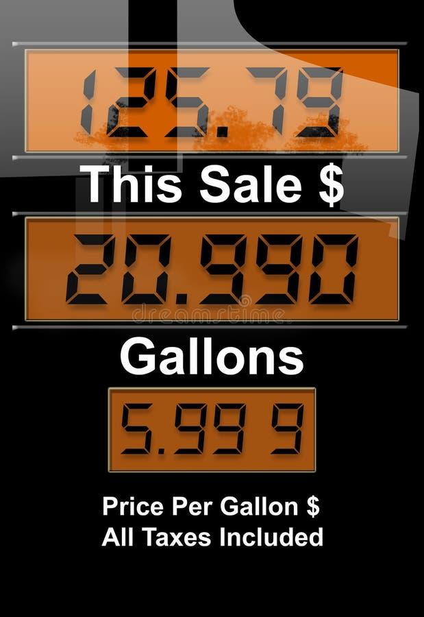 Crise do preço de gás ilustração stock