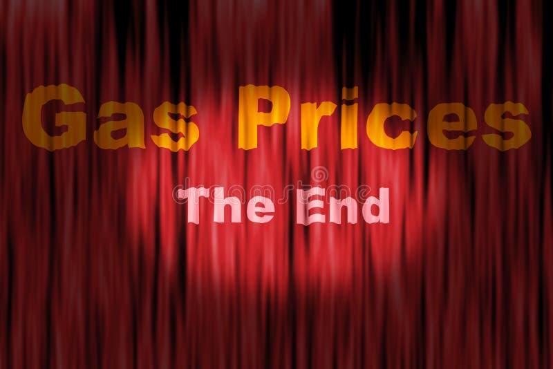 Crise do preço de gás ilustração do vetor