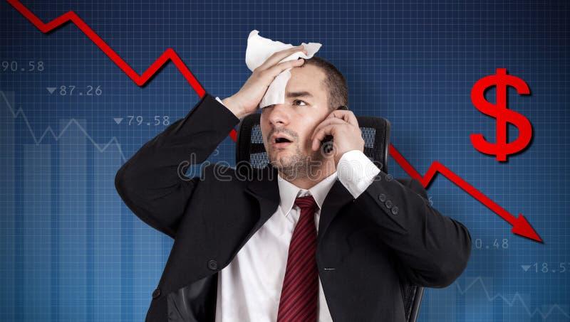 Crise du dollar image libre de droits