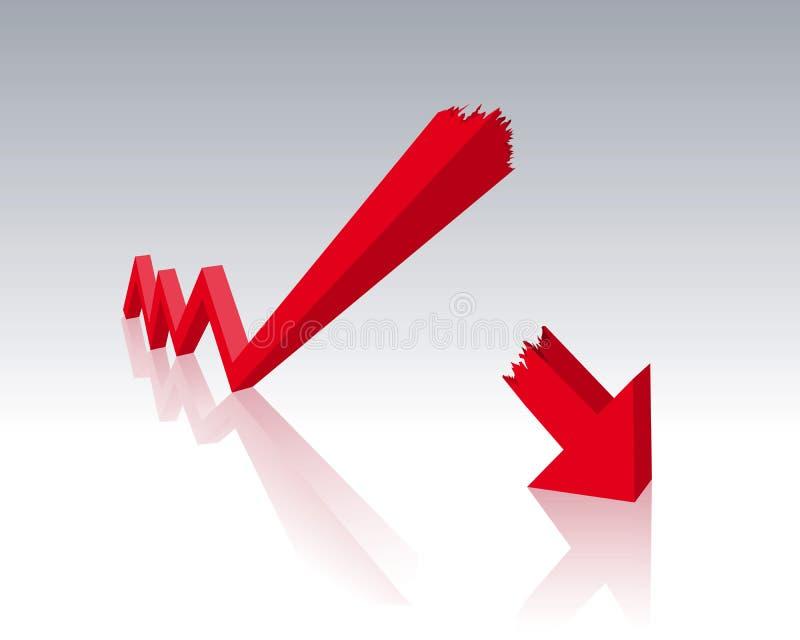 Crise económica ilustração stock