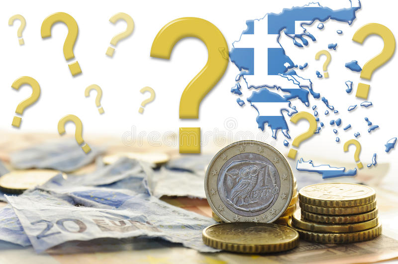 Crise económica de Greece fotos de stock royalty free