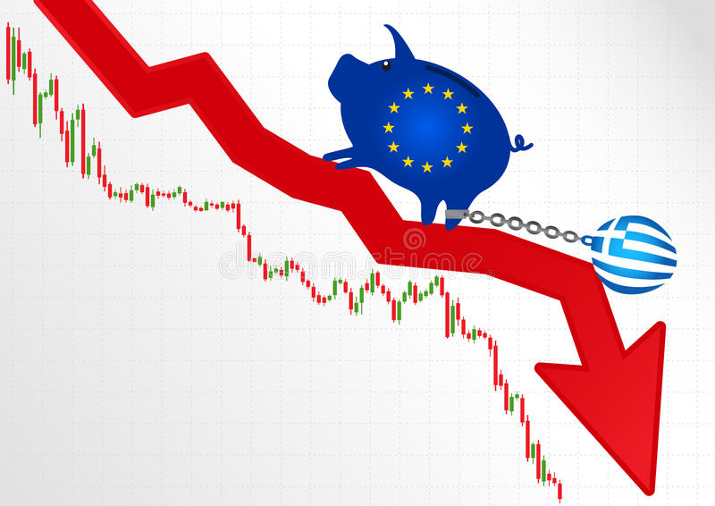 Crise em Greece ilustração do vetor