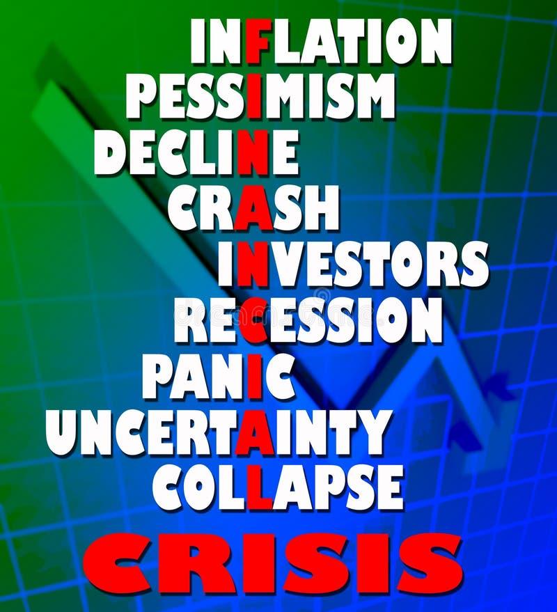 Crise financeira foto de stock