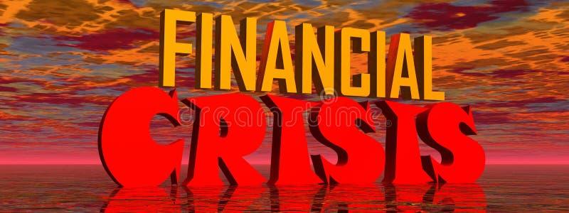 Crise financeira ilustração royalty free