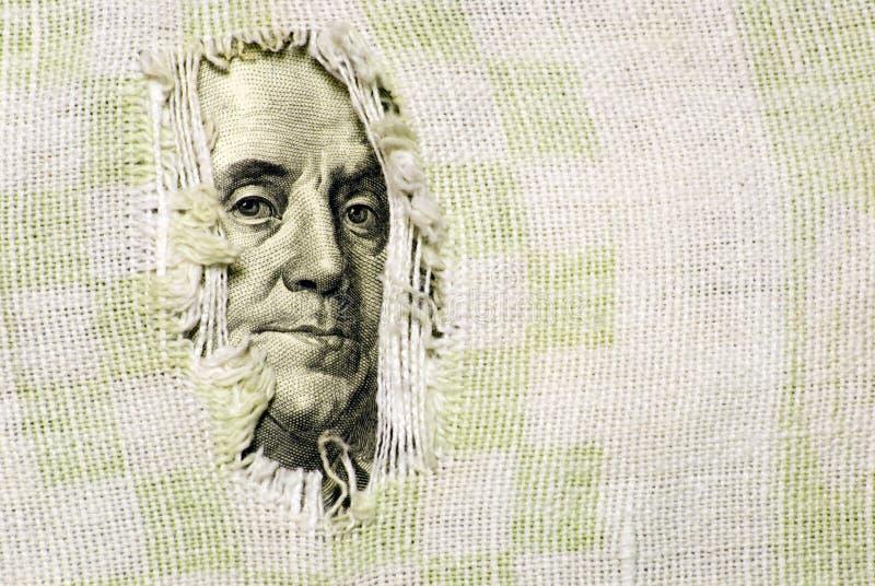 Crise financeira: o furo está no orçamento imagens de stock