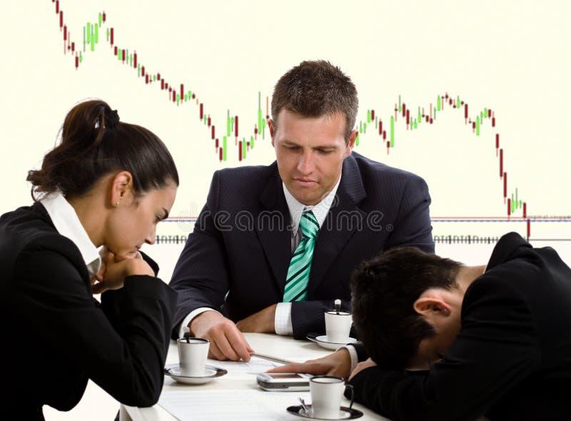 Crise financière image stock