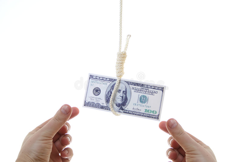 Crise financière du monde image libre de droits