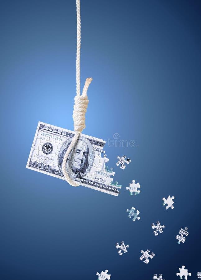 Crise financière du monde illustration stock